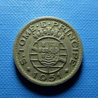 Portuguese S. Tomé E Príncipe 50 Centavos 1951 - Portugal