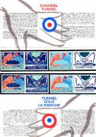 """"""" FRANCE / R.U TUNNEL SOUS LA MANCHE """" Emission Commune. N° YT 2880 à 2883 + R.U.1758 à 61 (Prix Poste = 6.86 €) PPEC - Emissions Communes"""