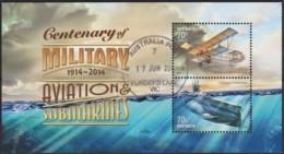 Australia 2014 Centenary Of Military Aviation & Submarines Minisheet CTO - - 2010-... Elizabeth II