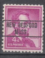USA Precancel Vorausentwertung Preo, Locals Massachusetts, New Bedford 263 - United States