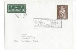 22395 - Christkindl 1974 Pour Dornbirn + Vignette 04.01.1975 - Weihnachten