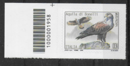 ITALIA - 2019 - EUROPA - AQUILA DI BONELLI - NUOVO - CODICE A BARRE A SINISTRA - 6. 1946-.. Republic
