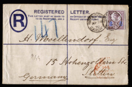 A6342) UK Registered Cover Bute Docks 1892 With Single Franking Mi.93 - Storia Postale