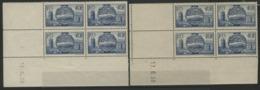 """N° 400 (x8) Cote 14 €. Deux Coins Datés Du 13 Et 17/6/38 / Blocs De Quatre """"Visite Des Souverains Britanniques"""". - Hoekdatums"""