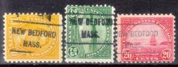 USA Precancel Vorausentwertung Preo, Locals Massachusetts, New Bedford L-4 HS, 3 Diff. Perf. 11x10 1/2 - Vereinigte Staaten