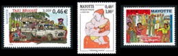 MAYOTTE 2001 - Yv. 98 99 100 **   Faciale= 1,37 EUR - Allaitement Maternel, Taxi Brousse, Pélerin La Mecque  ..Réf.AFA23 - Mayotte (1892-2011)