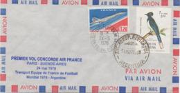 CONCORDE Pli Transporté Coupe Du Monde De Football - Concorde