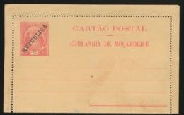 CARTAO POSTAL     REPUBLICA COMPANHIA DE MOCAMBIQUE - Mozambique