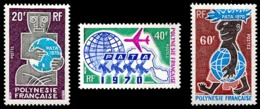POLYNESIE 1970 - Yv. 77 78 79 ** TB  Cote= 48,00 EUR - Association Touristique 'PATA' (3 Val.)  ..Réf.POL23817 - Polynésie Française