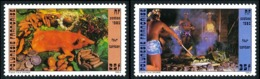 POLYNESIE 1985 - Yv. 241 Et 242 ** TB   - Four Tahitien: Cochon, Cuisiniers (2 Val.)  ..Réf.POL23942 - Polinesia Francese