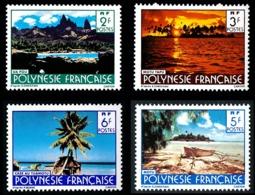 POLYNESIE 1986 - Yv. 252 253 254 255 ** SUP   - Paysages (sign. CARTOR) (4 Val.)  ..Réf.POL23949 - Polynésie Française