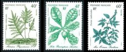 POLYNESIE 1986 - Yv. 268 269 270 ** SUP  Faciale= 1,18 EUR - Plantes Médicinales (3 Val.)  ..Réf.POL23960 - Polynésie Française