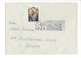 22399 - Christkindl 1978 Cover Pour Nüssbaumen Zürich 24.12.78 - Noël