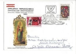 22400 - Christkindl 1980 Cover Pour Arosa Madonnenikone Kirche St.Barbara 28.11.1980 - Noël
