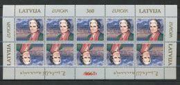 LETTLAND Mi.Nr. 423 EUROPA CEPT Berühmte Frauen - Kleinbogen - 1996 - MNH - Europa-CEPT