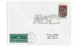 22401 - Christkindl 1980 Cover Pour Lustenau 02.01.1981+ Vignette - Noël