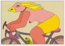 Cpm 1741/431 ERGON - Femme Oiseau à Bicyclette  - Vélo - Cyclisme - Bicycle - Cycle - Illustrateurs - Illustrateur - Ergon