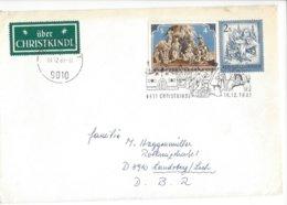 22402 - Christkindl 1981 Cover Pour Laudsberg DBR 16.12.1981+ Vignette - Noël