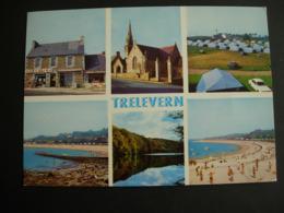 Trélévern. Multivue: Le Magasin Egé - L'église-camping-plage De Port L'Epine, étang De Boisriou. Année 1973 - Otros Municipios