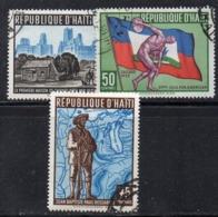 APR2960 - HAITI 1959 , Serie Yvert N. 420/422  Usata  (2380A)  Chicago - Haiti