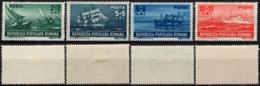 Romania 1948 - R.P.R. Marine, Romanian Ships. MiNr. 1149-1152 MH Set. - Nuovi
