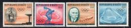 APR2961 - HAITI 1960 , Serie Yvert N. 447/450  **  MNH  (2380A)  Roma - Haiti