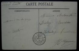 Bureau Frontière L 29 Septembre 1914 Cachet Noir + 133eme Régiment Territorial  Franchise Postale, Carte De Marseille - Marcophilie (Lettres)