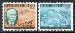 APR2962 - HAITI 1960 , Serie Yvert N. 451/452  **  MNH  (2380A)  Roma - Haiti