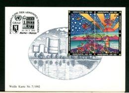 ONU - NAZIONI UNITE - FDC 1992 UMWELTGIPPEL - FDC