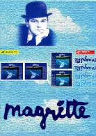 """"""" FRANCE - BELGIQUE : MAGRITTE """" Pochette D'Emission Commune De 1998  N°YT 3145 (Prix à La Poste = 37 Frs = 5.64 €) PPEC - Emissions Communes"""