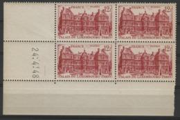 """N° 803 ** (MNH). Cote 19 €. Coin Daté Du 24/4/48 / """"Palais Du Luxembourg"""" - Angoli Datati"""