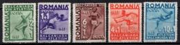 Romania - Sport, 8th Balkan Games USFR - Bucharest 1937. MiNr.538-543 MNH. - 1918-1948 Ferdinand, Carol II. & Mihai I.