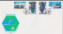 Jersey 1988 FDC Europa CEPT (NB**LAR3B1A) - Europa-CEPT