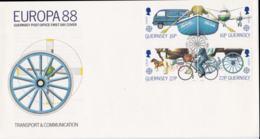 Guernsey 1988 FDC Europa CEPT (NB**LAR3B1A) - Europa-CEPT