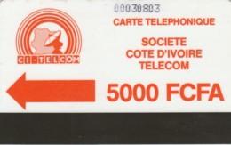 PHONE CARD COSTA D'AVORIO (E51.17.1 - Côte D'Ivoire