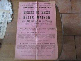"""DOURLERS """" LE VILLAGE""""-RUE D'AROUZIES VENTE DE MOBILIER DE MAISON,BELLE MAISON POUR CAUSE DE DECES DE M.MUSSCHOOT - Plakate"""