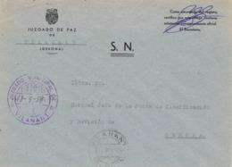 34106. Carta S.N. Franquicia Juzgado Municipal VILANANT (Gerona) 1959. Fechador Vilanant - 1931-Hoy: 2ª República - ... Juan Carlos I