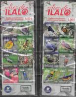 ECUADOR, 2019, MNH,BIRDS, BIRDS OF ILALO, 2 BOOKLETS - Birds