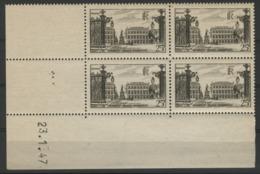 """N° 778 ** (MNH). Cote 25 €. Coin Daté Du 23/1/48 / """"Place Stanislas à Nancy"""" - 1940-1949"""