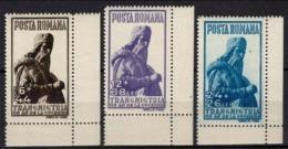 Romania - 1942, Transnistria - Miron Costin (Mi.752-754) MNH. - Nuovi