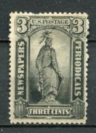 USA Zeitungsmarke Nr.7           (*)  No Gum       (6617) ND? - Zeitungsmarken & Streifbänder