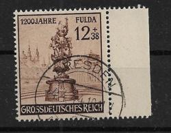 Deutsches Reich  886 O - Oblitérés