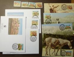 Sudan 1994 Mi 471-474 WWF DONKEY Esel  Maxi Card FDC MNH ** #cover 4929 - W.W.F.
