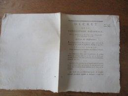 DECRET DE LA CONVENTION NATIONALE DES 25 OCTOBRE & 14 NOVEMBRE 1792 ABOLITION DES SUBSTITUTIONS - Decrees & Laws