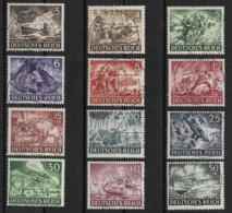 Deutsches Reich  831-842 O - Oblitérés