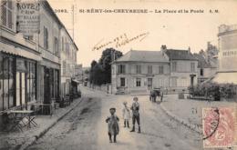 78-SAINT-REMY-LES-CHEVREUSE- LA PLACE ET LA POSTE - St.-Rémy-lès-Chevreuse