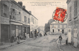 78-SAINT-REMY-LES-CHEVREUSE- LA POSTE ET GRANDE RUE PLACE DE ST-REMY - St.-Rémy-lès-Chevreuse