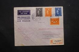 PAYS BAS - Enveloppe En Recommandé De Gravenhage Pour Léopoldville En 1938 Par 1er Vol Alger / Brazzaville - L 42973 - Brieven En Documenten