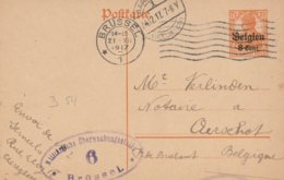Censure Bruxelles 6 Vers Aarschot - German Occupation