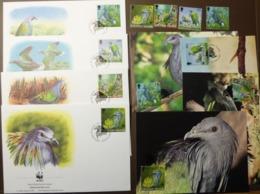 WWF 1993 Salomoninseln Solomon Islands Kragentaube Nicobar Pigeon Maxi Card FDC MNH ** #cover 4933 - W.W.F.